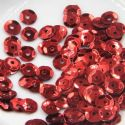 Sequins, Burgandy, Diameter 6mm, 450 pieces, 5g, Faceted Discs, Sequins are shiny, [CZP500]